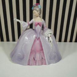 """Vintage porcelæns figur Marianne """"The Minuet"""" fra Franklin Porcelain"""