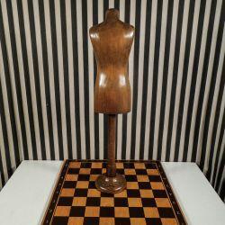 Vintage mini-gine/mannequin som træ-figur