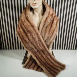 Vintage pels stola i mink! Suveræn kvalitet fra buntmager V.L. Jørgensen