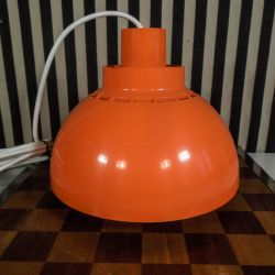 Vintage orange plast pendel fra Svend Middelboe
