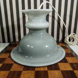 Vintage Holmegaard Tivoli lampe i grå opalglas. Lille model