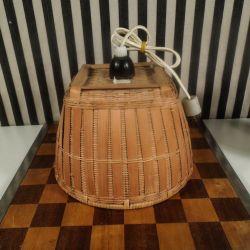 Fineste vintage loftspendel i strå
