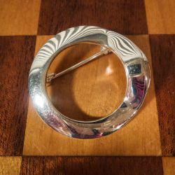 Vintage designer broche udført i sølv fra Aagaard