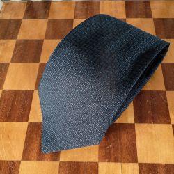 Originalt slips fra Hermes i blåt/sort silke