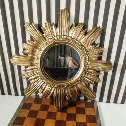 Italiensk vintage sol-spejl design fra midten af forrige århundrede.