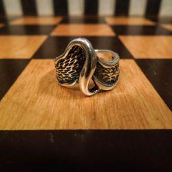 Vintage sølv ring i organisk design fra Anne Grethe Ryberg