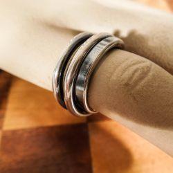 Vintage, kraftig, designer sølv-ring delvist oxyderet.