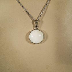 Vintage sølv halskæde med vedhæng fra N. E. From i sterling sølv og elfenben!
