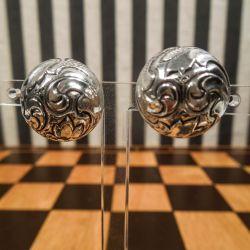 Fine vintage øreclips i sterling sølv fra Bernhard Hertz.