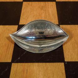 Spændende designer vintage broche i sterling sølv.