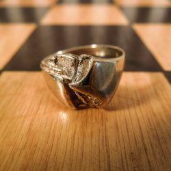 Vintage Guld ring i otte karat fra Herman Siersbøl.